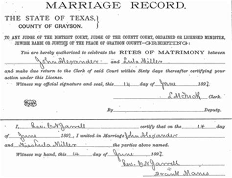 Grayson County Marriage Records How Do You What Records Exist