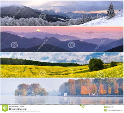 set of the 4 seasons landscape stock image image 24848411