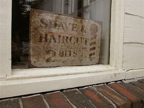 shave and a haircut 2 bits 50 cents barbering