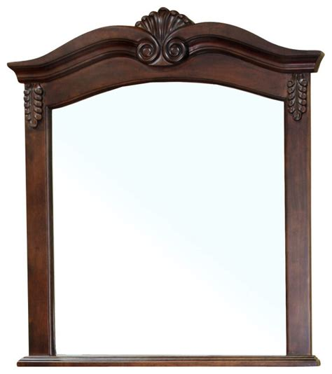 Solid Wood Frame Mirror Walnut Modern Bathroom Mirrors Wood Framed Bathroom Mirrors