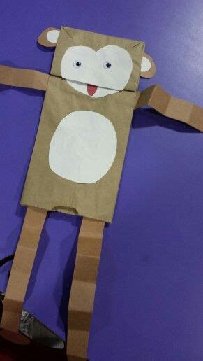 Paper Bag Monkey Craft - 25 best ideas about monkey puppet on sock