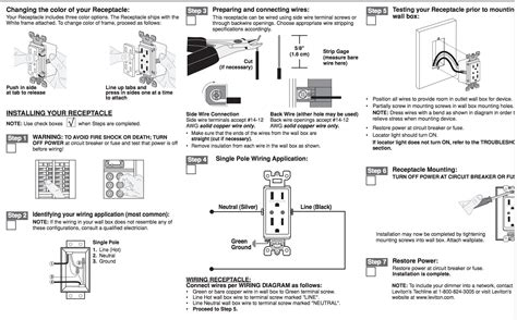 leviton wiring green black and white wiring diagram