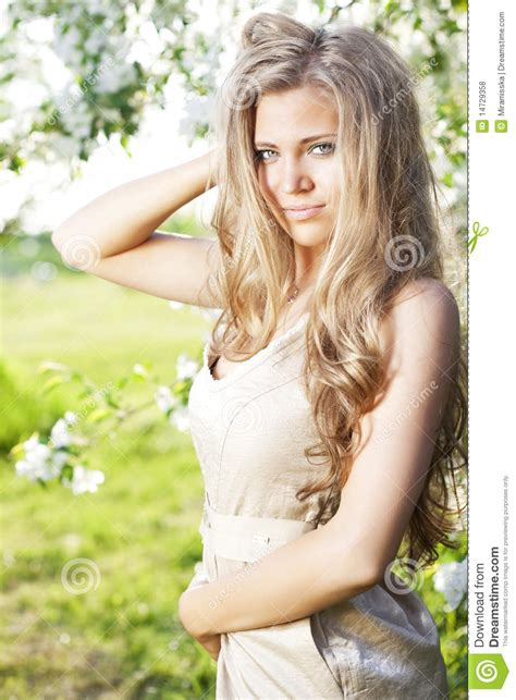 beautiful videos beautiful girl with long hair stock photo image 14729358