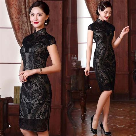 Modern Fashion Cheongsam Black 17 best ideas about cheongsam modern on