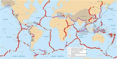 foto de las placas tectonicas placas tect 243 nicas 50 aniversario del gran descubrimiento