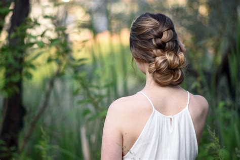 girl hairstyles list knotted braid updo cute girls hairstyles
