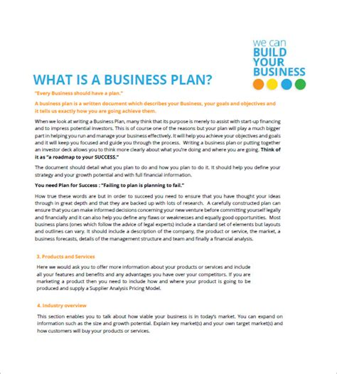 free business plan templates for small businesses small business plan template free sle exle inzare