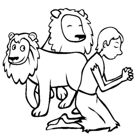 daniel and the lions den coloring pages 50 image