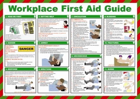 Home Kitchen Aid by Workplace First Aid Health And Safety Poster Safety