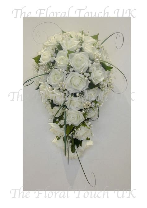 Wedding Bouquet Gypsophila by Bridal Shower Bouquets Teardrop Wedding Bouquets The