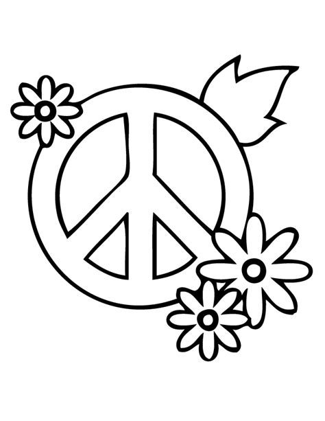Peace Flower Coloring Pages Coloring Pages Peace Sign Coloring Page