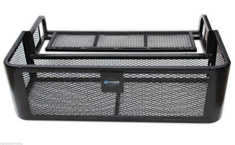 Atv Drop Basket Rack by Atv Utv Universal Rear Drop Basket Rack Steel Cargo