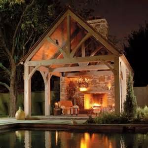 Covered Patio With Fireplace by Covered Patio Pool Fireplace Outdoors Pinterest