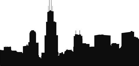 City Outline Vector by Chicago Skyline Outline Clipart Best