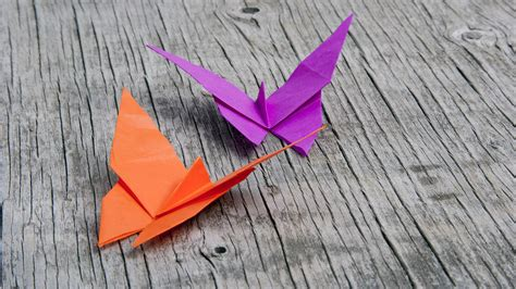 Butterfly Paper Folding - how to fold an easy origami butterfly the traditional