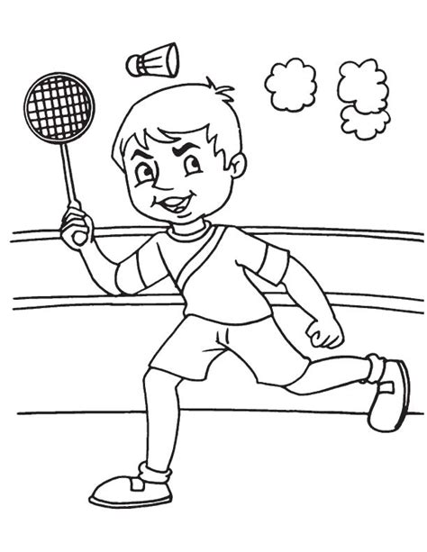 free coloring pages of badminton