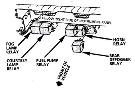 1993 camaro fuel pump relay location get free image