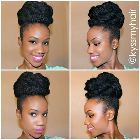 easy marley braid high bun natural hair tutorial youtube 17 best images about marley braid hair styles on pinterest
