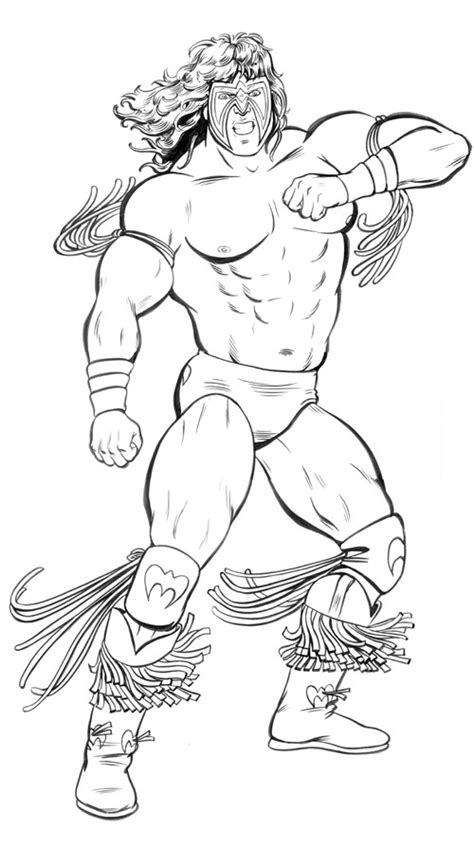 wwe coloring pages hulk hogan ultimate warrior coloring pages