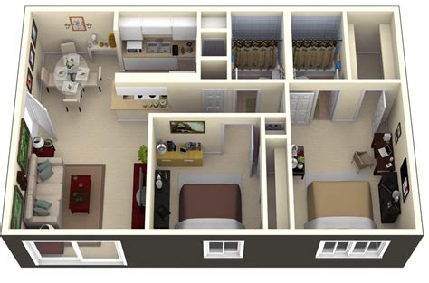 2 Bedroom Apartment by 50 Two Quot 2 Quot Bedroom Apartment House Plans Architecture
