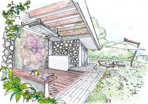 disegno giardino doccia da giardino