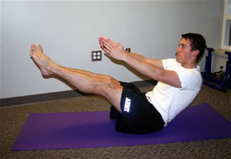 boat pose hold exercise body weight workouts cool workouts for your abs core