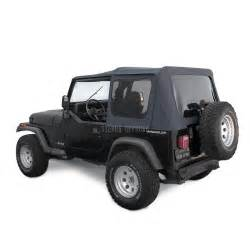 jeep soft top for 88 95 wrangler yj w tinted windows in