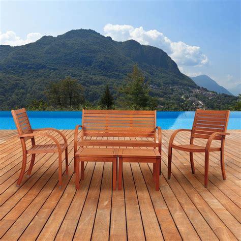 amazonia pacifica 5 eucalyptus patio seating set sc