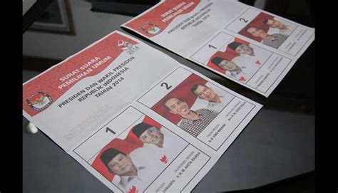 senin kertas surat suara pilpres dicetak pemilu 2014 tempo co