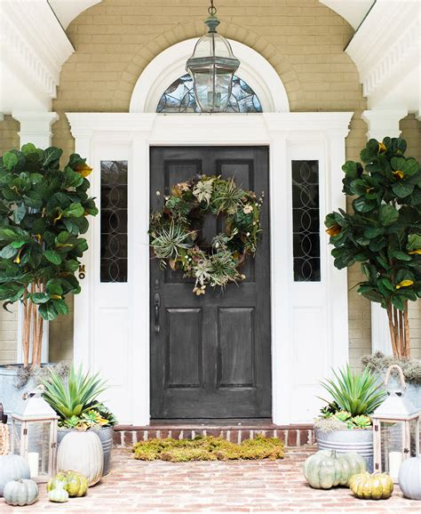 Creating A Fall Front Door Using Succulents Pottery Barn Barn Front Door