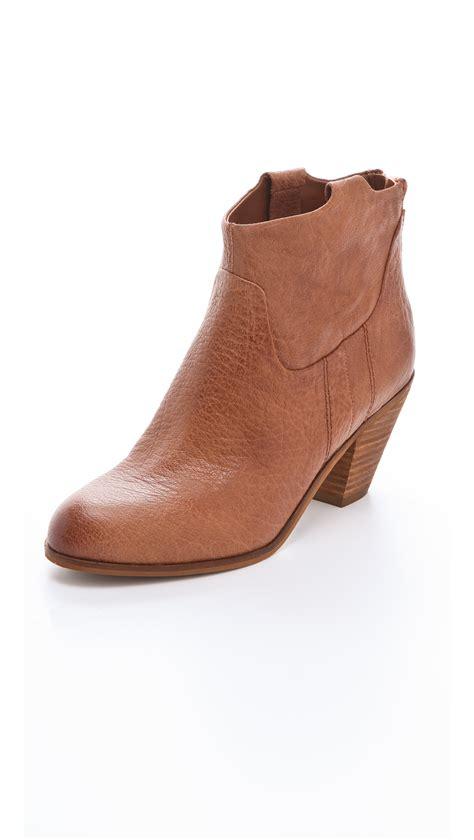sam edelman boot sam edelman lisle booties in brown saddle lyst