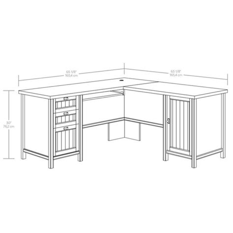 sauder costa l shaped desk sauder 419956 costa l shaped desk the furniture co