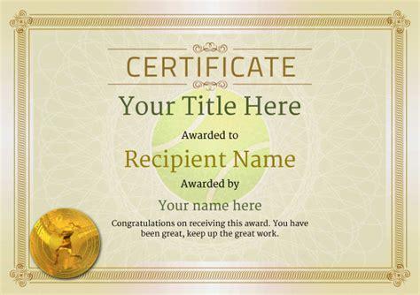 tennis certificate template free tennis certificate templates add printable badges
