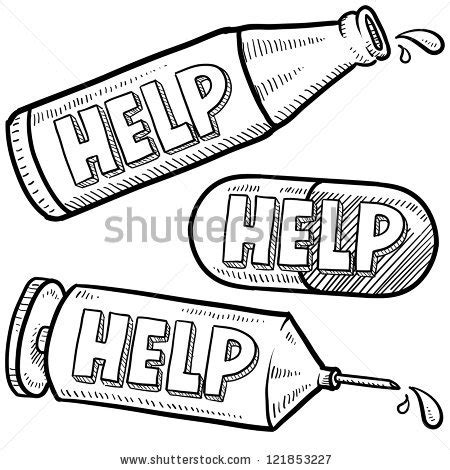 how to do whiskey on doodle fit doodle style bottle syringe and pill illustration with