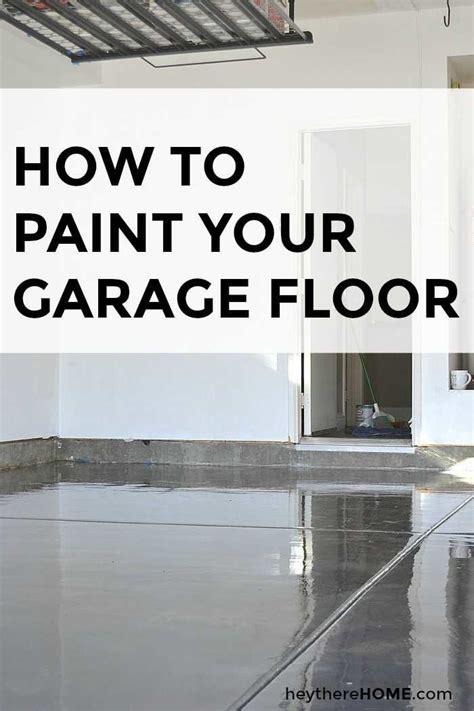 paint  garage floor