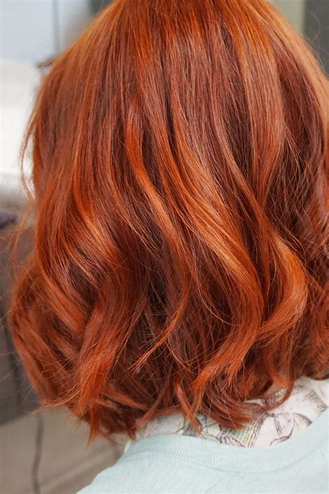 hair coloring ginger copper ombre haircolor red orange for short hair girly