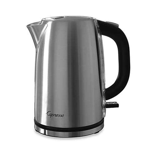 bed bath and beyond kettle capresso 174 h2o steel electric water kettle bed bath beyond