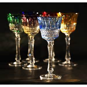 Heart Shaped Vases Set Of Colored Crystal Wine Glasses Consist Of 6 Pieces