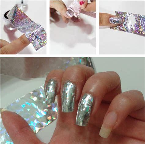 Ho1567w Nial Sticker Foil Roll Seri 4 holographic silver nail foil
