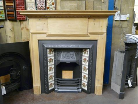 Edwardian Fireplace Surround by Reclaimed Edwardian Pine Surround 193ws