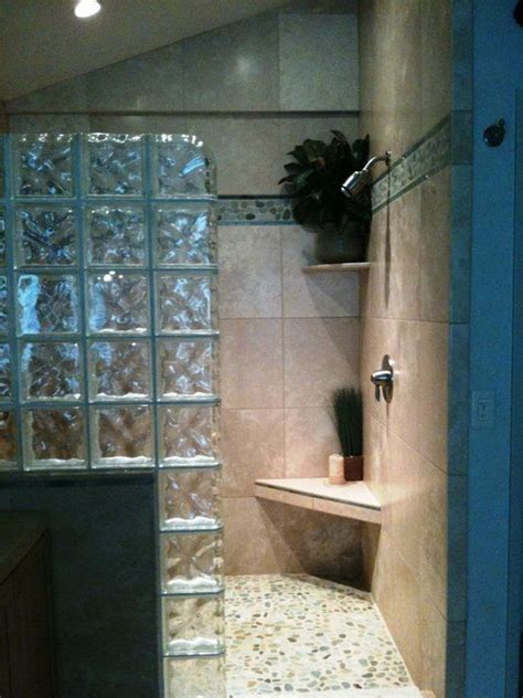 17 best images about glass block shower on