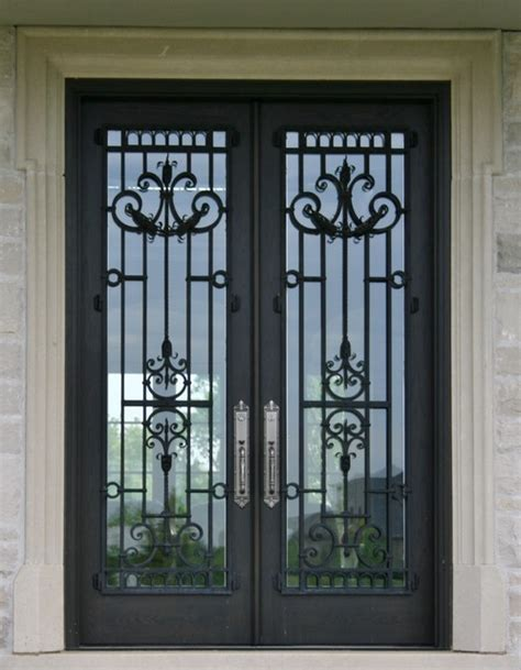 Exterior Doors Ta Front Doors With Glass And Iron Wrought Iron Glass Front Entry Doors Mediterranean Entry Ta By