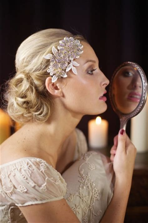 Vintage Bridal Hair 2013 by The Great Gatsby Inspired Hairstyles Bows Veils