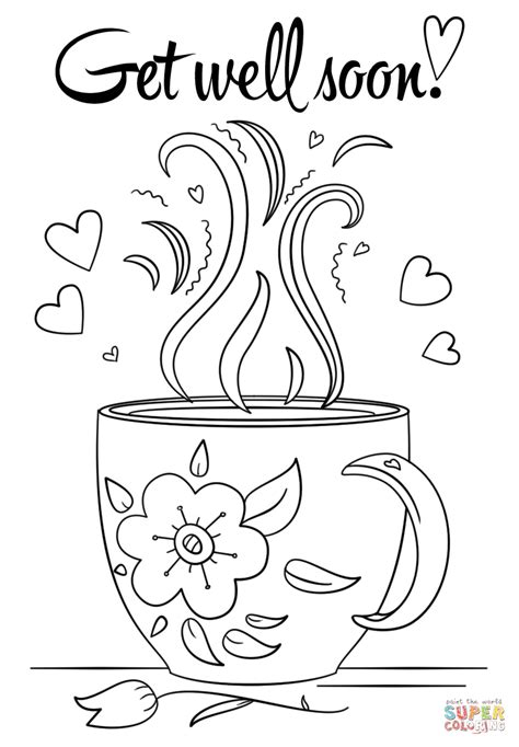 Free Get Well Coloring Pages Coloring Pages Get Well Soon Coloring Page Free Printable by Free Get Well Coloring Pages