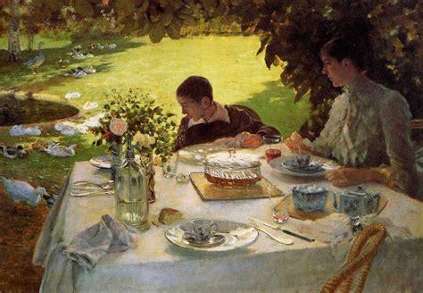 colazione in giardino de nittis il cibo nei quadri d arte di pittori famosi
