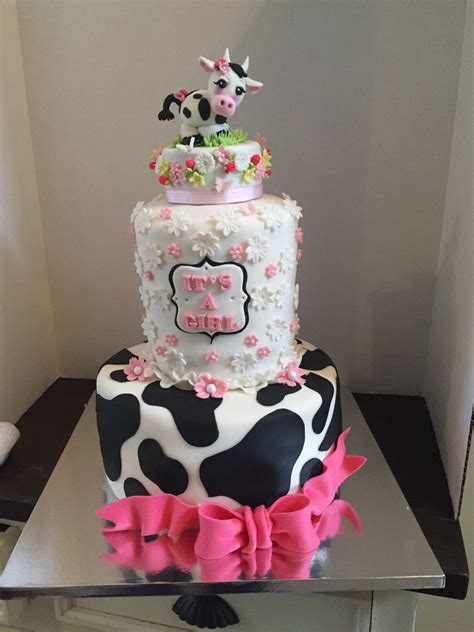 Cow Themed Baby Shower by Cow Themed Baby Shower Cake Cakecentral