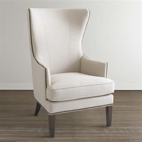 accent upholstery whitney accent chair in fabric or leather