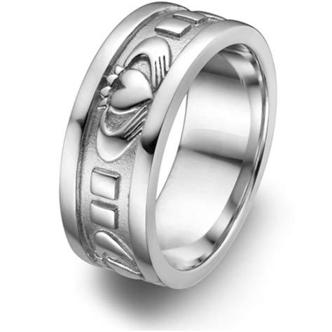 mens sterling silver claddagh wedding ring ums 6343
