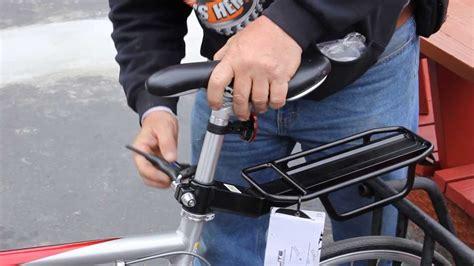 bike seat cl install bicycle seat post rack how to install bikemanforu