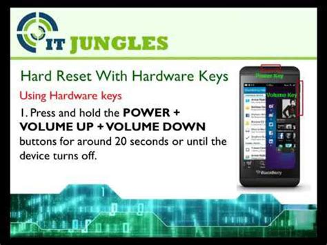 reset blackberry z10 hub how to hard reset blackberry z10 4 ways by meraz youtube